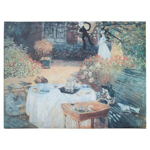 'Garden Picnic' by Claude Monet Painting Print on Canvas by Charlton Home