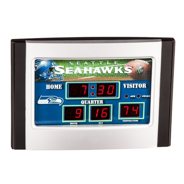 Seattle Seahawks Scoreboard Desk Clock by Evergreen Enterprises, Inc
