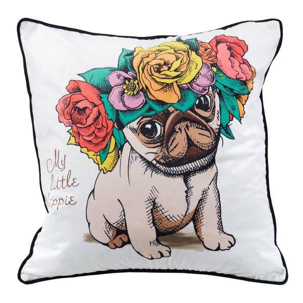 Little Hippie Metallic Throw Pillow by Nicole Miller