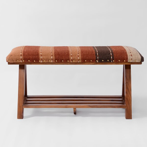 Seese Upholstered Storage Bench By World Menagerie 2019 Online