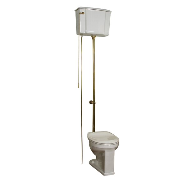 Victoria High Tank Toilet 1.6 GPF Round Wall Mounted Toilet (Seat Not Included) by Barclay