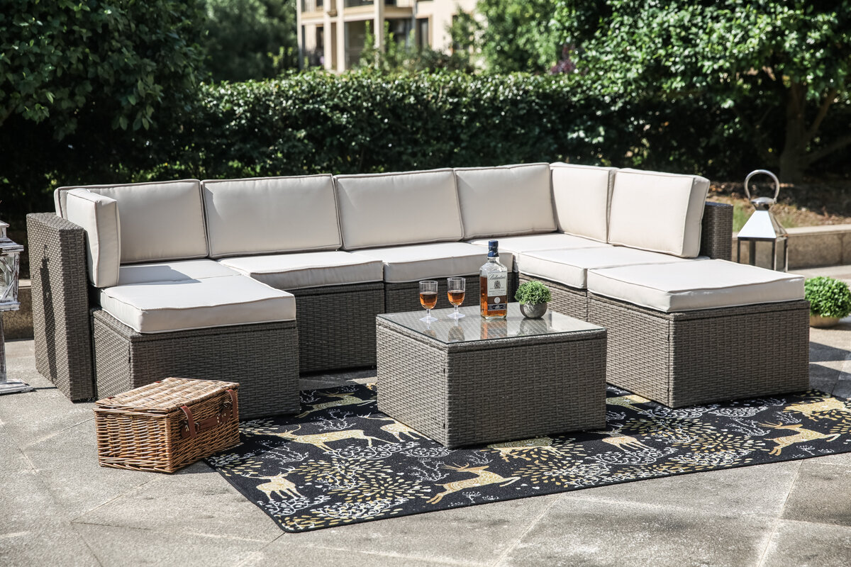 Pleasant Worksop 8 Piece Sectional Set With Cushions Alphanode Cool Chair Designs And Ideas Alphanodeonline
