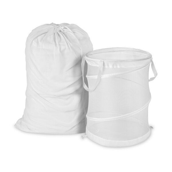 2 Piece Laundry Bag and Pop Up Hamper Set by Honey Can Do