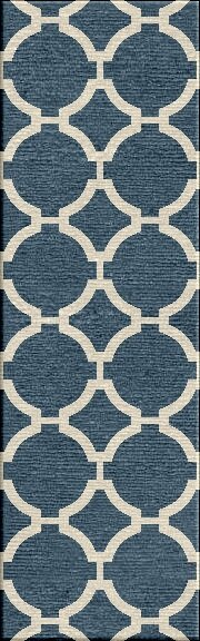 Blondene Durable Hand-Woven Blue Area Rug by Willa Arlo Interiors