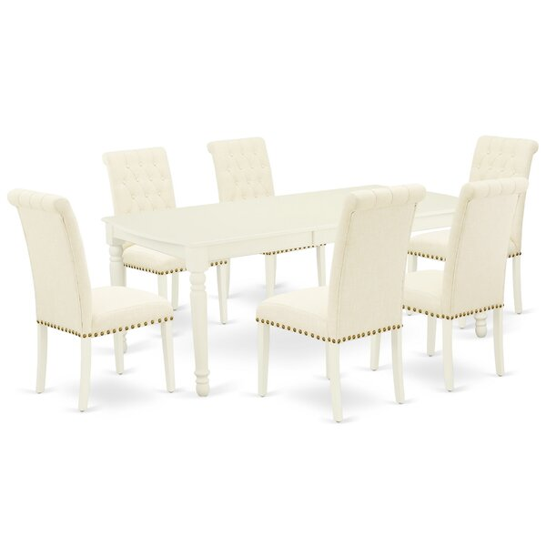 Remi 7 Piece Extendable Solid Wood Dining Set by Rosalind Wheeler Rosalind Wheeler