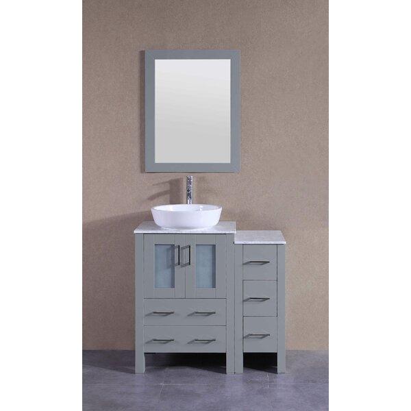 Vivaan 36 Single Bathroom Vanity Set with Mirror by BosconiVivaan 36 Single Bathroom Vanity Set with Mirror by Bosconi