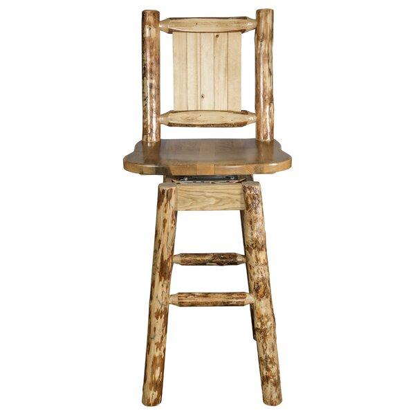Tustin 24 Square Seat Wood Swivel Bar Stool by Loon Peak