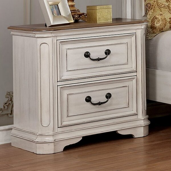 Caleb 2 Drawer Nightstand by One Allium Way
