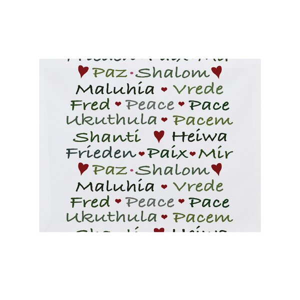 Words of Peace Placemat (Set of 4) by The Holiday Aisle