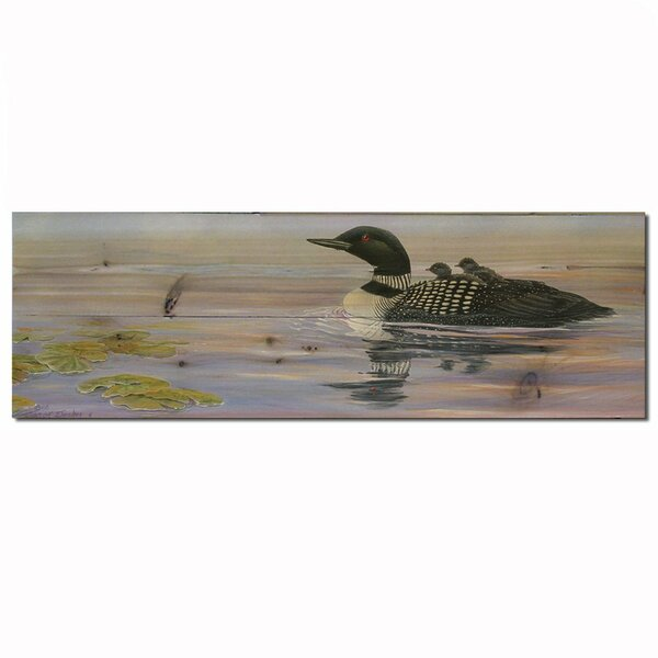 Misty Loons Painting Print Plaque by WGI-GALLERY