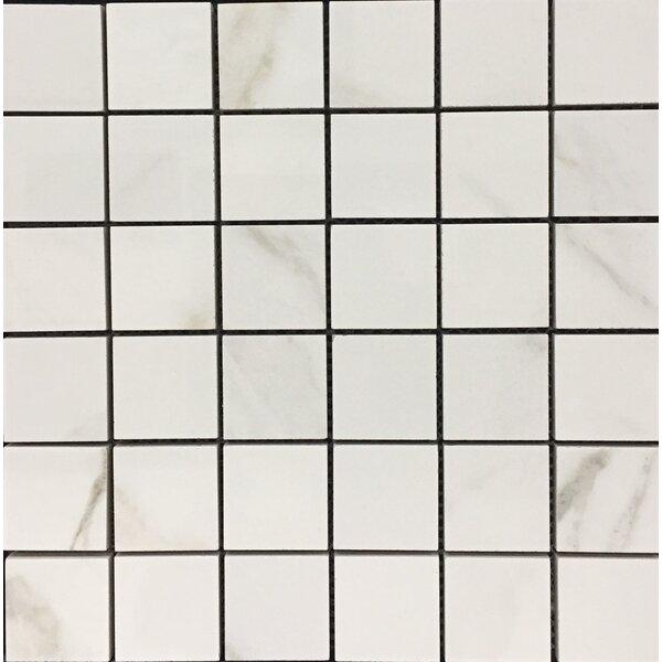 Hex Alpine 12 x 12 Porcelain Mosaic Tile in White by Kellani