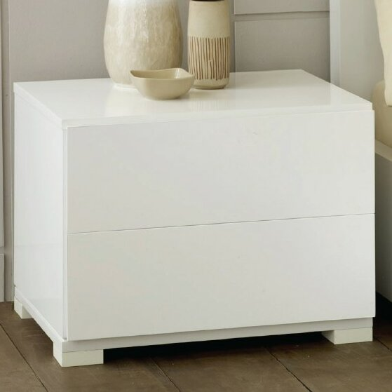 Sommerset Contemporary 2 Drawer Nightstand by Orren Ellis