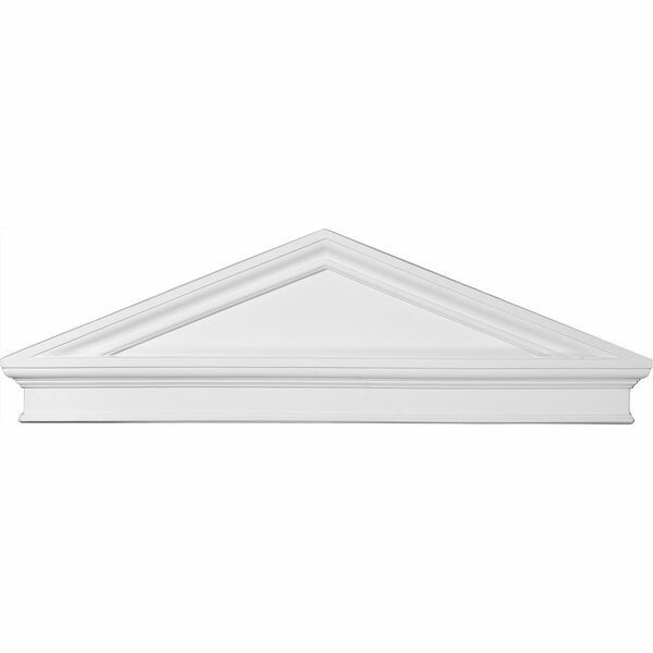 14 1/8H x 43 7/8W x 2 3/8D Combination Peaked Cap Pediment by Ekena Millwork