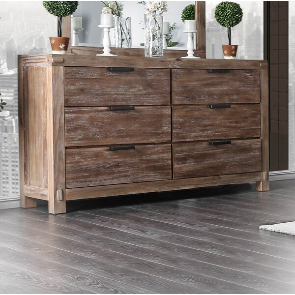 Perez 6 Drawer Double Dresser by Union Rustic