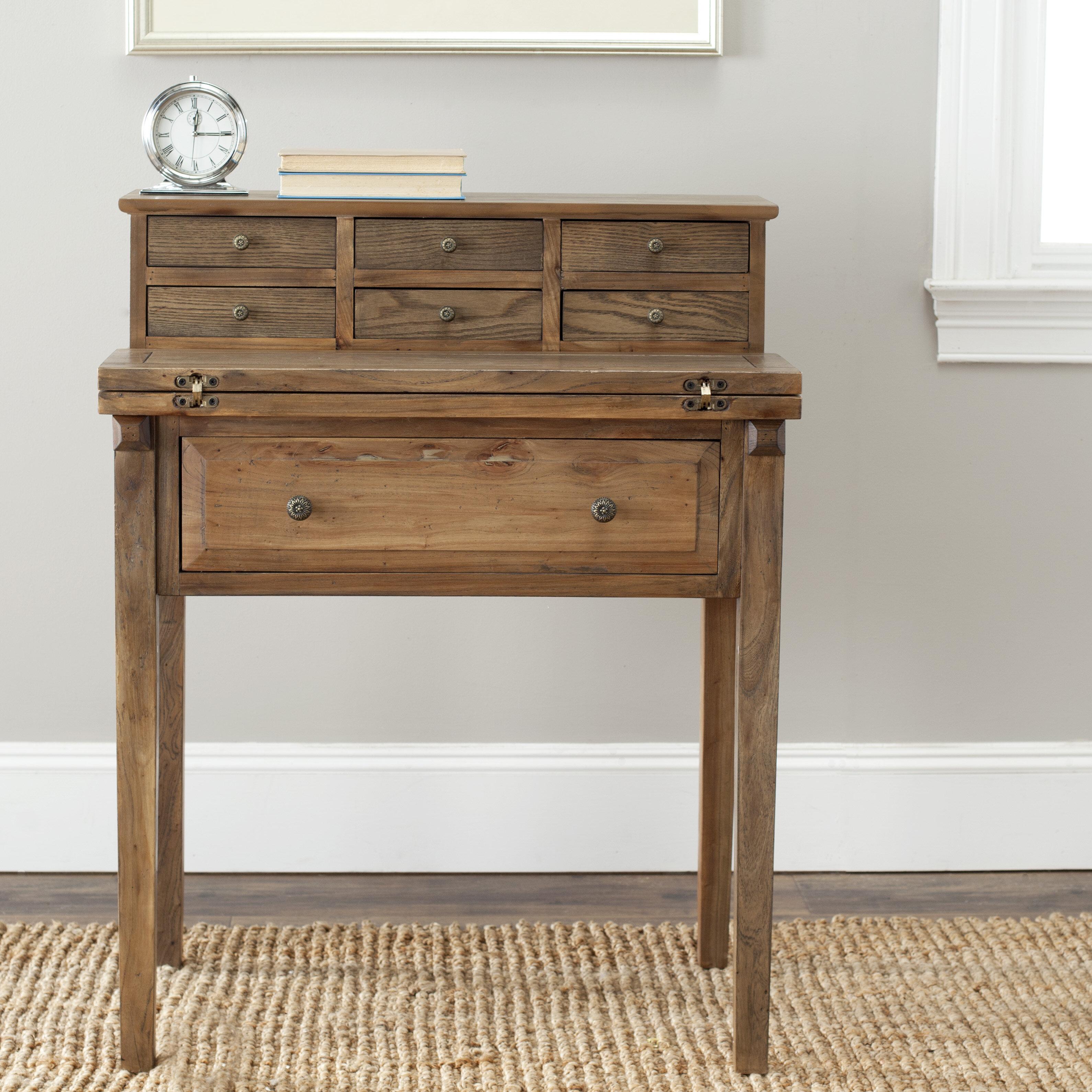 with storage medium oak p artisan the desks secretary home desk