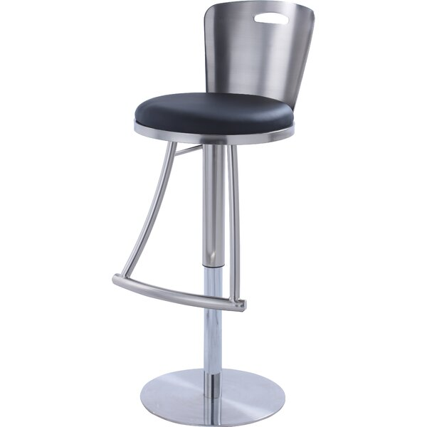 Jenele Adjustable Height Swivel Bar Stool by Orren Ellis