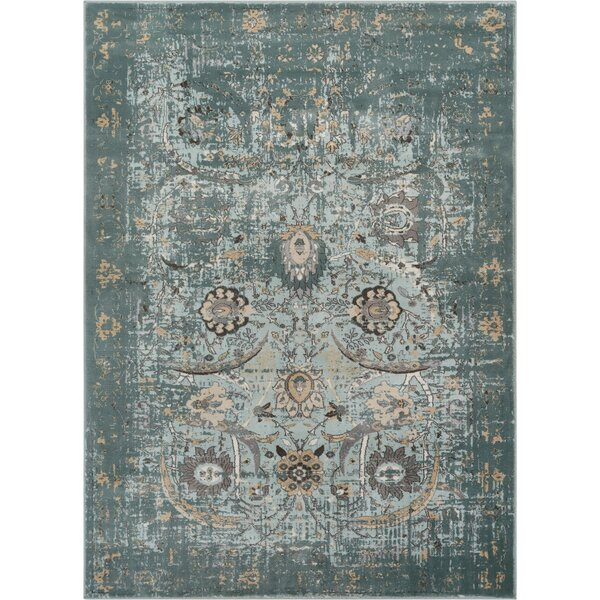 Aya Classic Blue Area Rug by Bungalow Rose