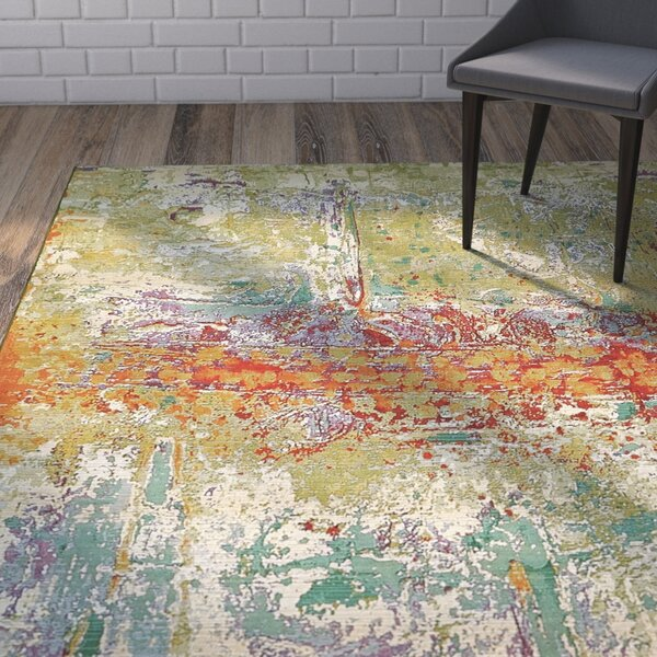 Barone Green Indoor/Outdoor Area Rug by Wade Logan