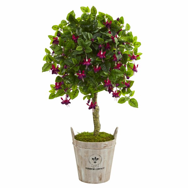 Artificial Floor Fuschia Tree in Planter by One Allium Way
