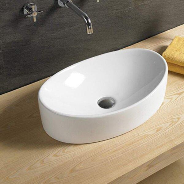 Ceramic Oval Vessel Batroom Sink