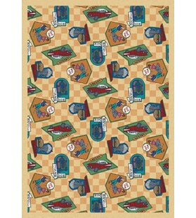 Best Deals Gold Indoor/Outdoor Area Rug By The Conestoga Trading Co.