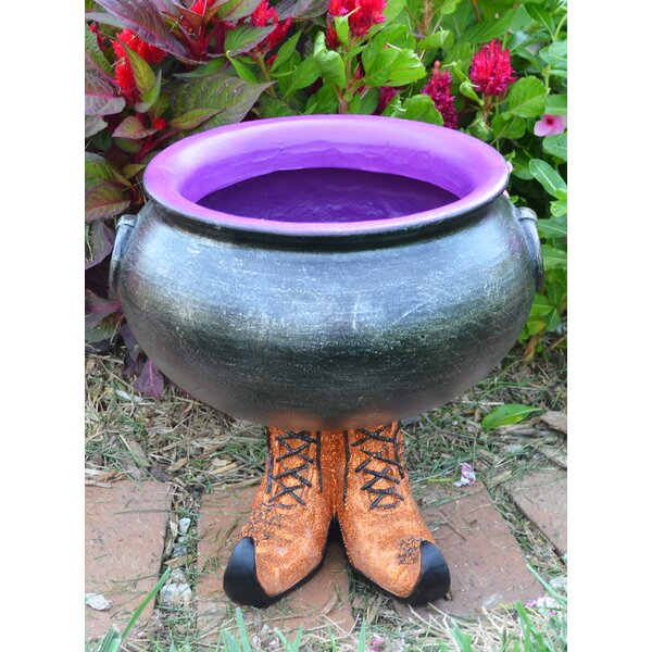 Cauldron Pot With Witch Boots By The Holiday Aisle by The Holiday Aisle