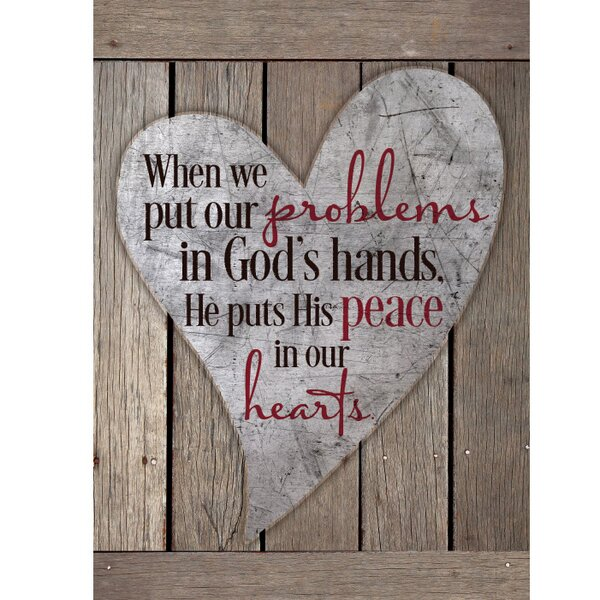 When We Put Our Problems In New Horizons Textual Art Wood Plaque by Dexsa