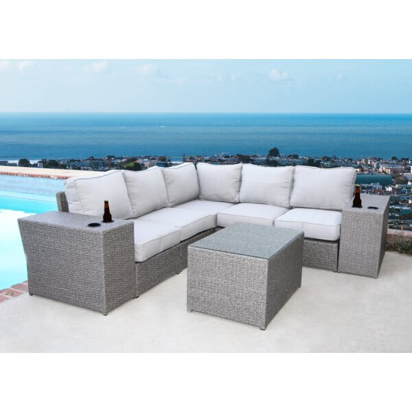 Almyra 8 Piece Sectional Set with Cushions by Sol 72 Outdoor