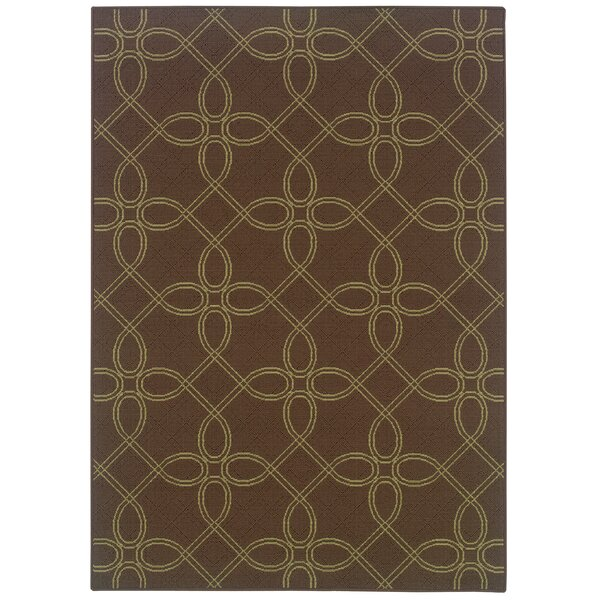 Newfield Brown/Green Indoor/Outdoor Area Rug by Threadbind