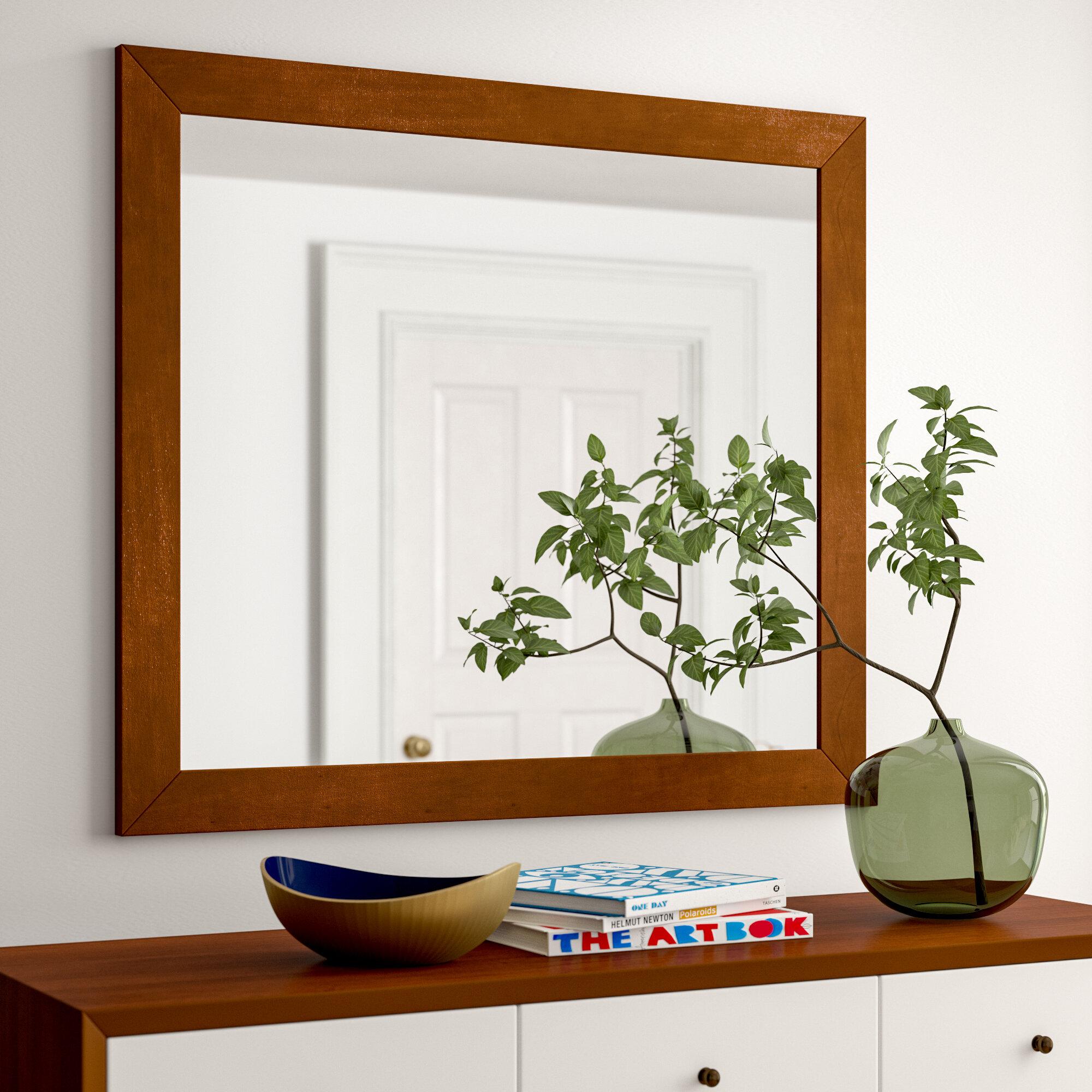 Image of: Foundstone Parocela Mid Century Modern Dresser Mirror Wayfair Ca
