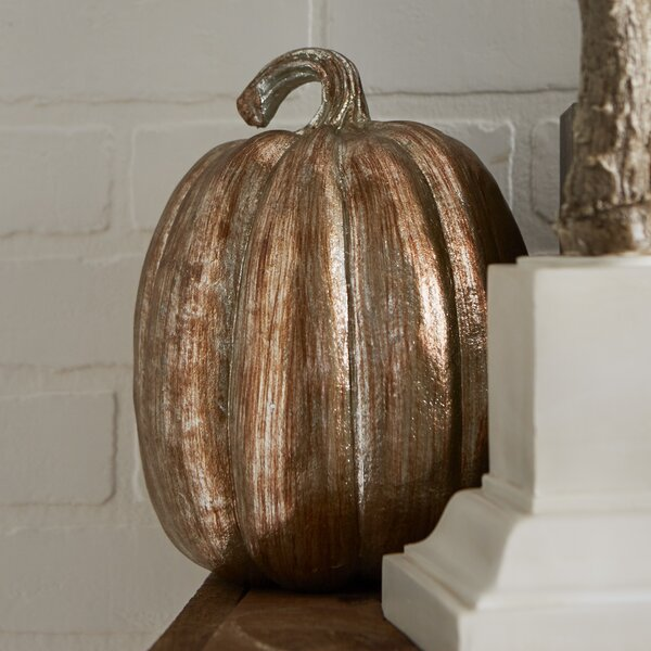 Faux Metallic Pumpkin by The Holiday Aisle
