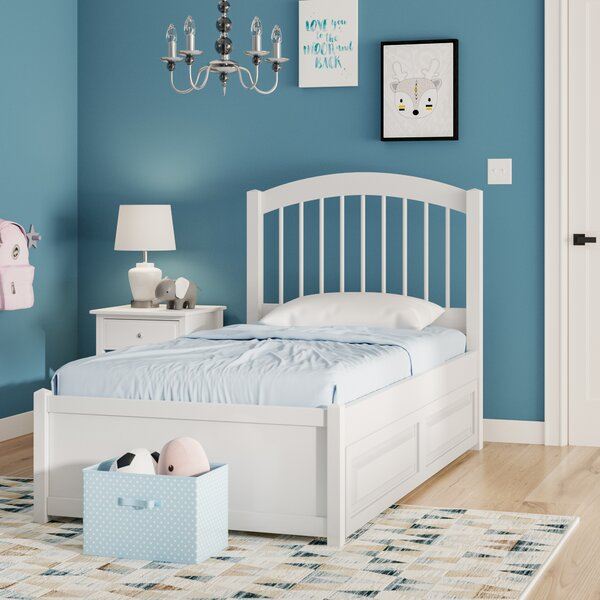 Holliston Panel Bed with Trundle by Harriet Bee