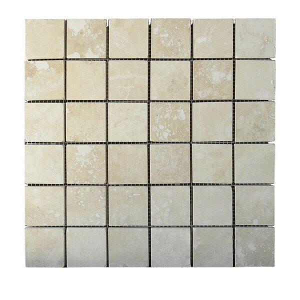 Honed 2 x 2 Natural Stone Mosaic Tile in Walnut by QDI Surfaces
