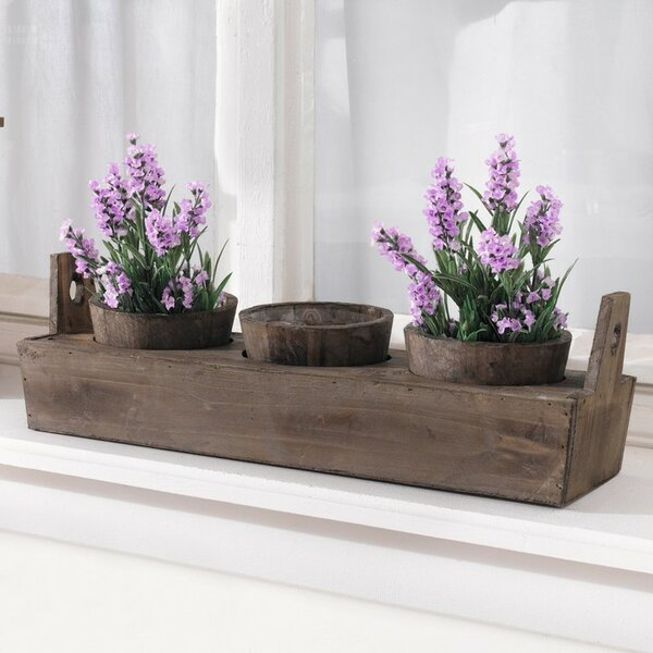 4-Piece Wood Pot Planter Set by Pier Surplus