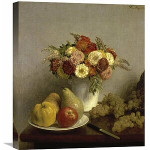 'Flowers and Fruit Cuisine' by Henri Fantin-Latour Painting Print on Wrapped Canvas by Global Gallery
