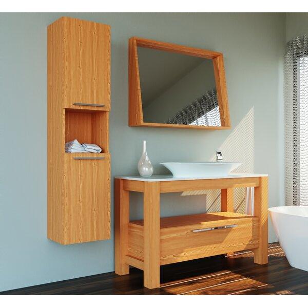 Carlisle 47 Single Bathroom Vanity Set with Mirror by Wrought Studio