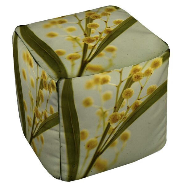 Vintage Botanicals Pouf By Manual Woodworkers & Weavers New Design