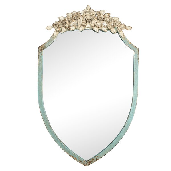 Gladeview Floral Accent Mirror by Ophelia & Co.