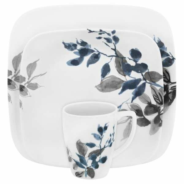 Boutique Kyoto Night 16 Piece Dinnerware Set, Service for 4 by Corelle