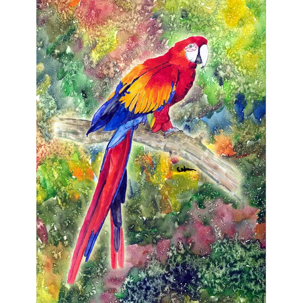 Parrot Parrot Head House Vertical Flag by Caroline's Treasures