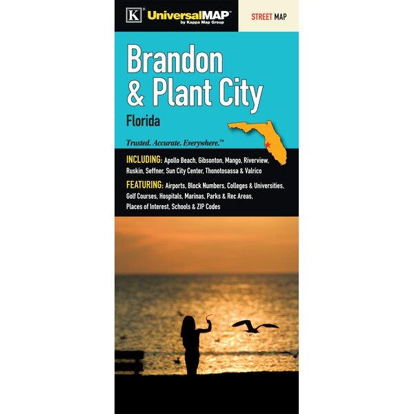 Brandon/Plant City Florida Fold Map by Universal Map