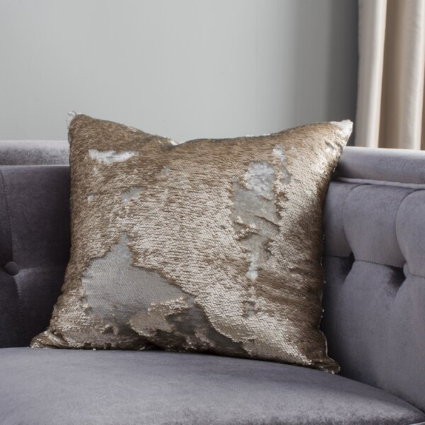 Revathi Sequin Throw Pillow by Everly Quinn