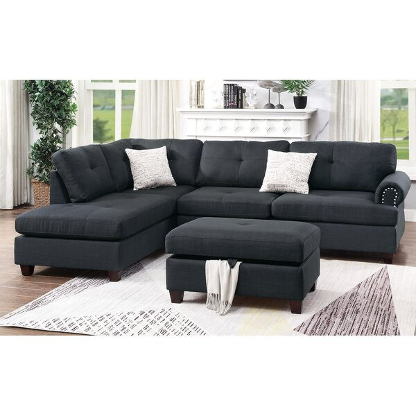 Flick Reversible Sectional with Ottoman by Winston Porter Winston Porter