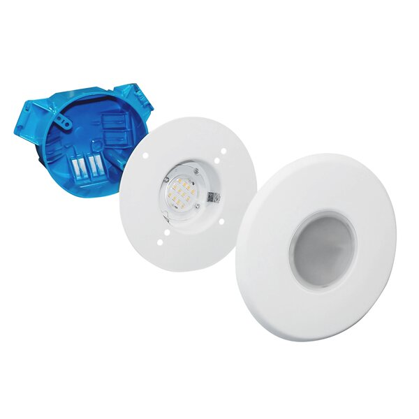 SureFit Ultra Slim Surface Mount LED Downlight 5.15 Square Recessed Trim by NICOR Lighting