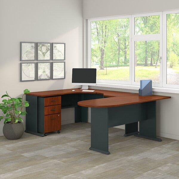 Series A Corner 2 Piece U-Shaped Desk Office Suite by Bush Business Furniture