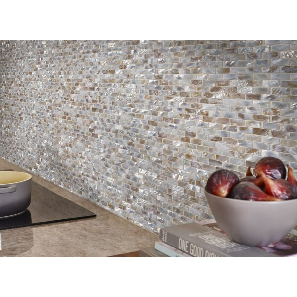 Santorini Brick Glass Mosaic Tile in White by MSI