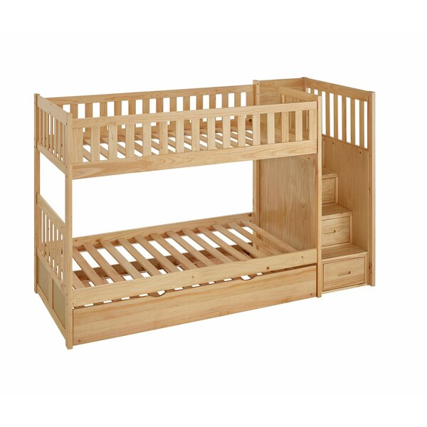 Kibby Elric Staircase Twin Bunk Bed with Trundle by Zoomie Kids