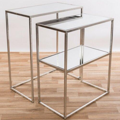 2 Satztische Burrill Canora Grey Farbe: Silber | Wohnzimmer > Tische > Satztische & Sets | Canora Grey