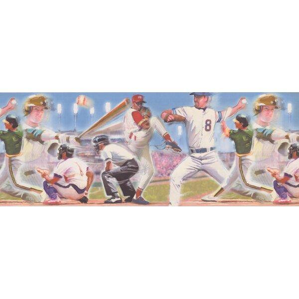 Colunga Baseball Design Wallpaper Border by Harriet Bee
