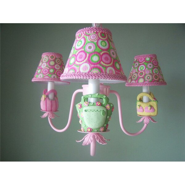 Happy Handbag 3 - Light Shaded Classic / Traditional Chandelier By Silly Bear Lighting